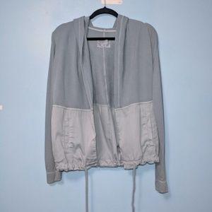 Postmark | Slate Blue Open Front Anorak Jacket | S